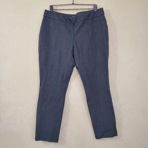 Hilary Radley Gray Stretch Dress Pants XL